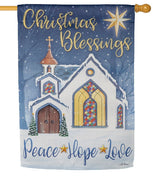 Christmas Blessings Suede Reflections House Flag