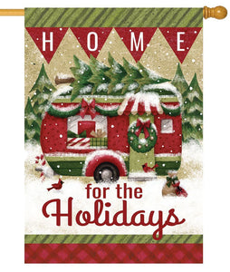 Christmas Holiday Camper House Flag - All Decorative Flags/Holidays/Christmas Flags - I AmEricas Flags