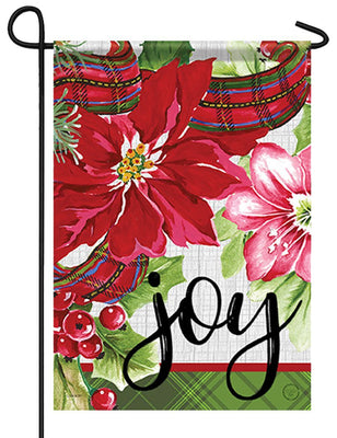 Christmas Joy Floral Garden Flag