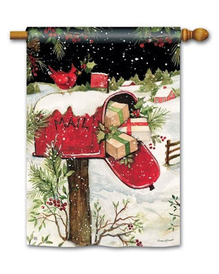 Christmas Mailbox House Flag