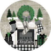 Christmas Mantel Accent Magnet