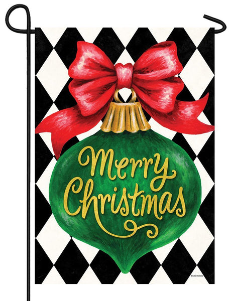 Christmas Ornament Garden Flag