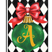 Christmas Ornament Monogram Letter A Garden Flag