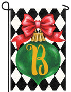 Christmas Ornament Monogram Letter B Garden Flag