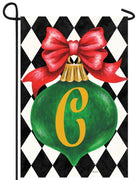 Christmas Ornament Monogram Letter C Garden Flag