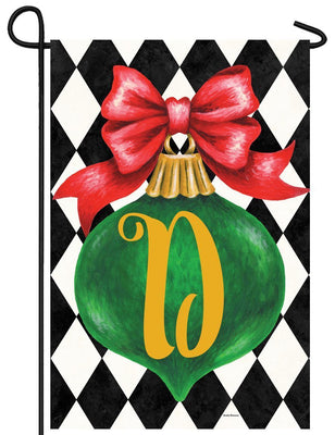 Christmas Ornament Monogram Letter D Garden Flag