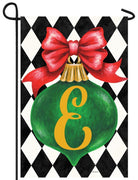 Christmas Ornament Monogram Letter E Garden Flag