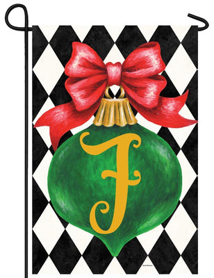 Christmas Ornament Monogram Letter F Garden Flag