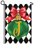 Christmas Ornament Monogram Letter J Garden Flag