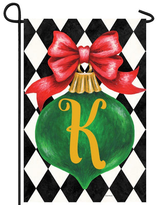 Christmas Ornament Monogram Letter K Garden Flag