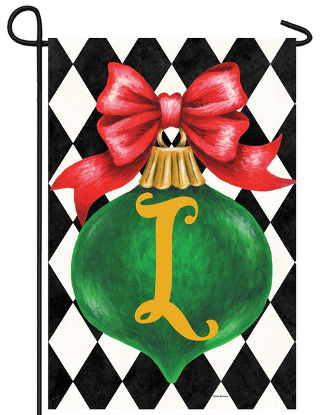 Christmas Ornament Monogram Letter L Garden Flag - All Decorative Flags/Monogram Flags - I AmEricas Flags
