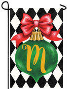Christmas Ornament Monogram Letter M Garden Flag