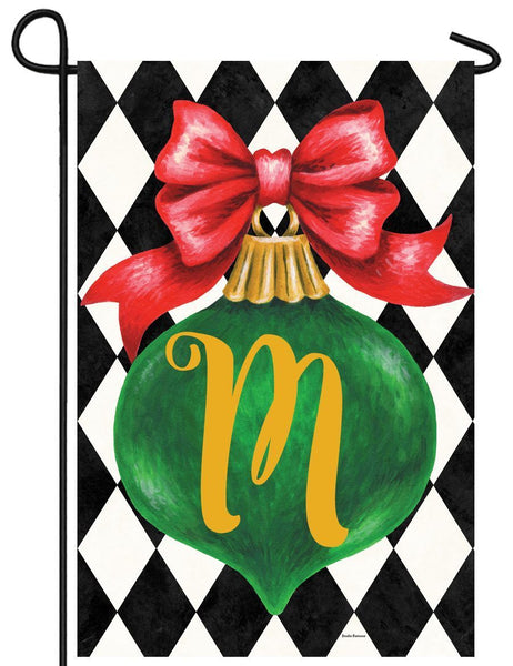 Christmas Ornament Monogram Letter M Garden Flag - All Decorative Flags/Monogram Flags - I AmEricas Flags