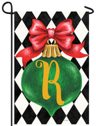 Christmas Ornament Monogram Letter R Garden Flag