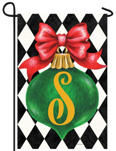 Christmas Ornament Monogram Letter S Garden Flag - All Decorative Flags/Monogram Flags - I AmEricas Flags