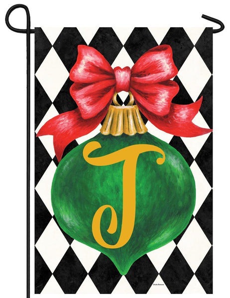 Christmas Ornament Monogram Letter T Garden Flag - All Decorative Flags/Monogram Flags - I AmEricas Flags