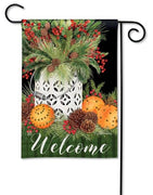 Christmas Spiced Oranges Garden Flag