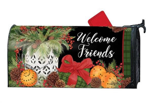 Christmas Spiced Oranges Mailbox Cover