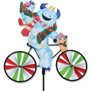 Christmas Yeti Bicycle Wind Spinner