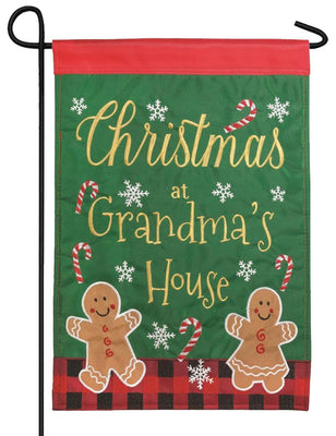 Christmas at Grandma's Double Applique Garden Flag