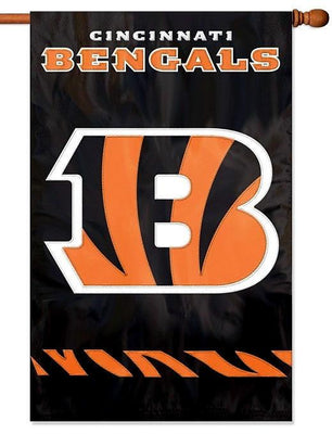 Cincinnati Bengals Applique House Flag