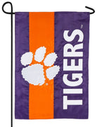 Clemson University Embellished Applique Garden Flag