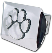 Clemson University Paw Print Shiny Chrome Hitch Cover