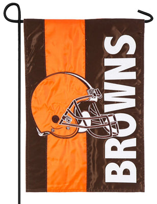 Cleveland Browns Embellished Applique Garden Flag