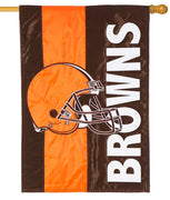 Cleveland Browns Embellished Applique House Flag