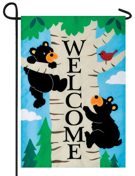 Climbing Bears Double Applique Garden Flag - I AmEricas Flags
