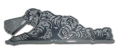 Coal Miner Chrome Car Emblem