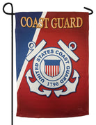 Coast Guard Seal Sublimated Garden Flag