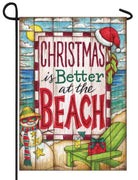 Coastal Christmas is Better at the Beach Garden Flag