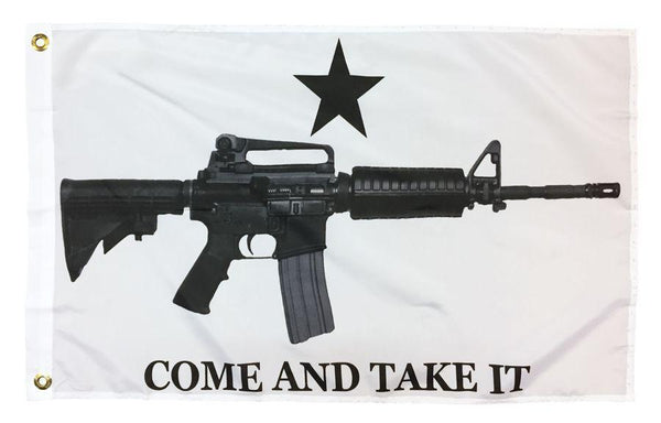 Come and Take it M4 Rifle Flags - Printed Polyester - Novelty Flags - I AmEricas Flags