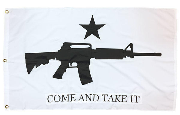 Come and Take it M4 Rifle Flag 3x5 2-Ply Polyester - Novelty Flags - I AmEricas Flags