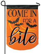 Come in for a Bite Double Applique Garden Flag