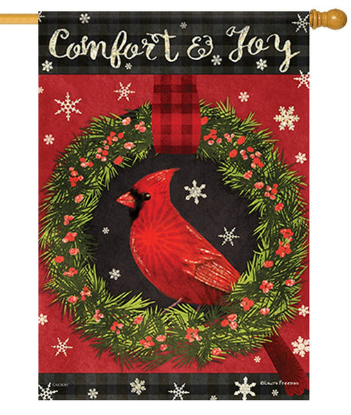 Comfort and Joy Cardinal House Flag