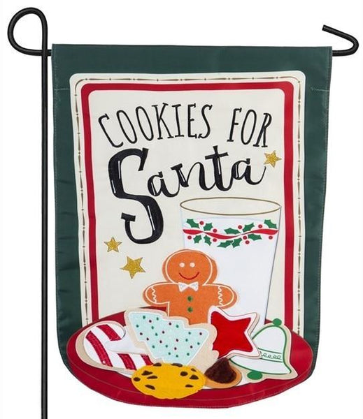 Cookies for Santa Applique Garden Flag - All Decorative Flags/Holidays/Christmas Flags - I AmEricas Flags
