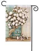 Cotton Bolls Garden Flag