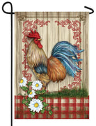 Country Home Rooster Garden Flag