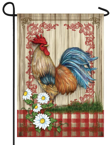 Country Home Rooster Garden Flag - All Decorative Flags/Themes/Bird Flags/Roosters and Chickens - I AmEricas Flags