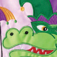 Crazy Legs Alligator Double Applique Garden Flag Detail 2