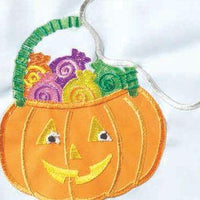 Crazy Legs Boo Ghost Double Applique Garden Flag Detail 1