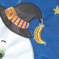 Crazy Legs Boo Ghost Double Applique Garden Flag Detail 2