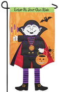 Crazy Legs Dracula Double Applique Garden Flag