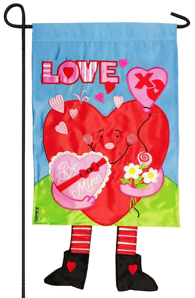 Crazy Legs Heart Double Applique Garden Flag - All Decorative Flags/Holidays/Valentine's Day Flags - I AmEricas Flags
