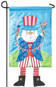 Crazy Legs Uncle Sam Double Applique Garden Flag