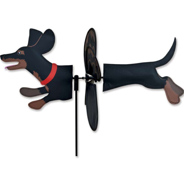 Dachshund Black and Tan Petite Wind Spinner