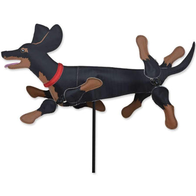 Dachshund Black and Tan WhirliGig Wind Spinner