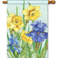 Daffodils and Irises House Flag